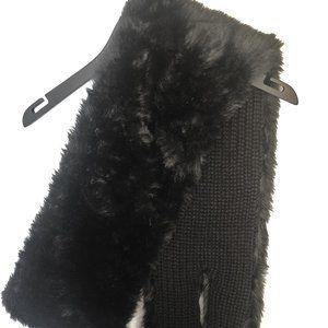 GUESS black faux fur scarf/wrap